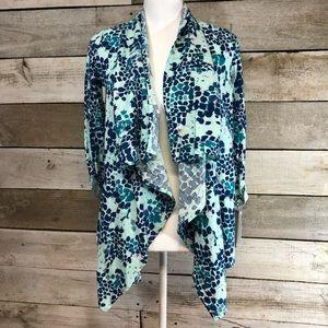 Calvin Klein Pattern Shrug Jacket Size Large